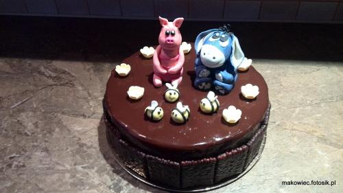 Akcent dla dziecka a tort dla dorosłego #Prosiaczek #osiołek #kubuś #puchatek #tort #okolicznościowy