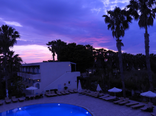 Zachód słońca z okna.