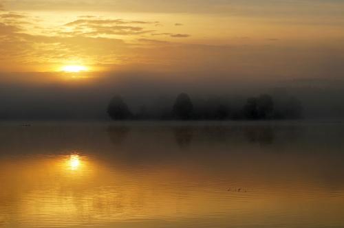 Borków 14.10.17 wschód słońca