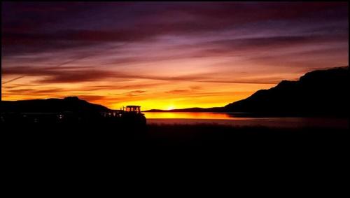 Wschód słońca Islandia