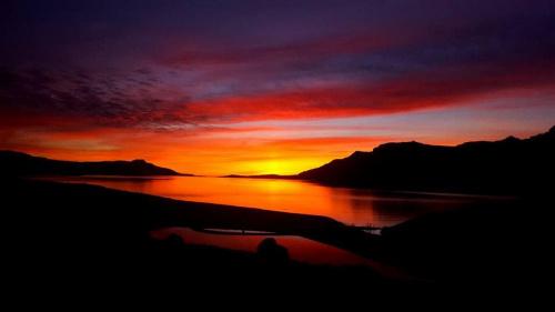 Islandia wschód słońca