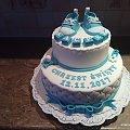 Tort na chrzciny dla Kacpra #tort na #chrzciny #chrzciny #kacper #tort #okazjonalny