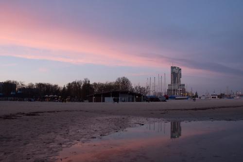 Dzisiejszy zachód słońca w Gdyni