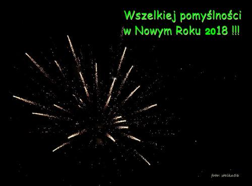 W Nowym Roku 2018 życzę Wam wszystkim samych pięknych dni, spełnienia marzeń i duuużo, dużo radości :)
