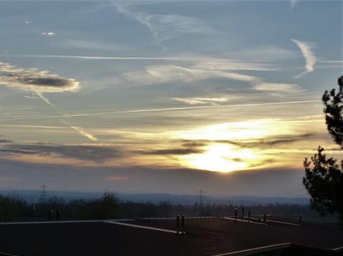 zachód słońca styczniowy