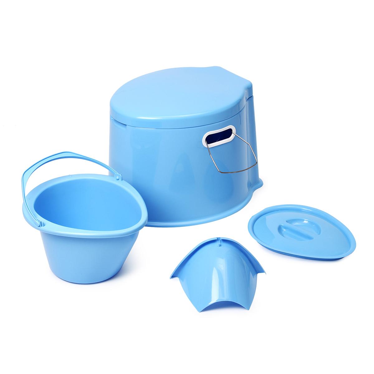Wc reise eimer toilette campingtoilette f r mobilehome toiletteneimer camping wc ebay - Camping toilette fur gartenhaus ...