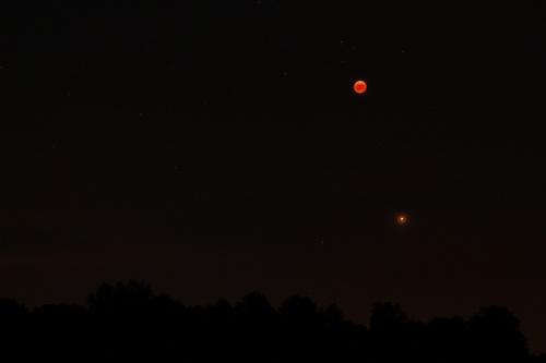 Księżyc i Mars 27.07.2018
