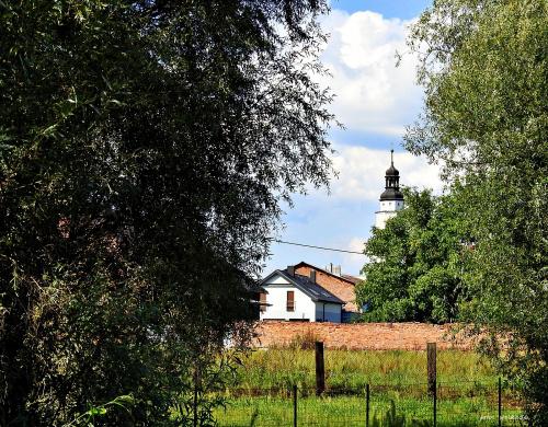 Bierawa ... w tle kościół p, w, Trójcy Świętej ...