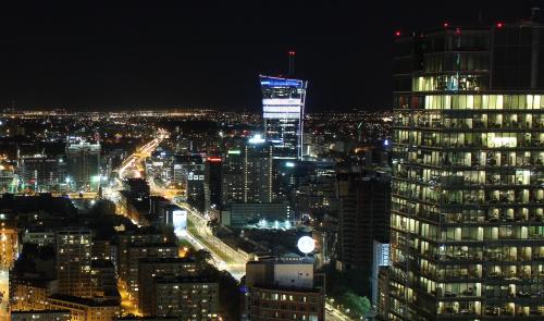 Rzut oka na zachodnią stronę Warszawy w sobotni wieczór