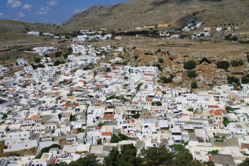 Miasto Lindos na wyspie Rodos.