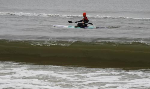 Zimowe sporty wodne.