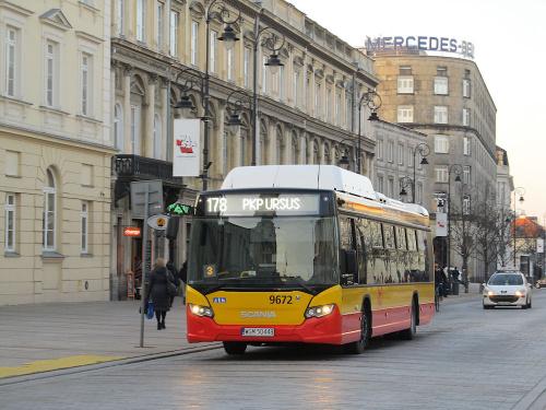"""Scania Citywide CN280UB 4x2 EB CNG, #9672, """"Michalczewski"""" sp. z o.o / Oddz. Warszawa"""
