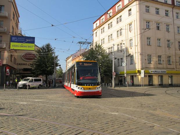 """Škoda ForCity 15T """"Praha"""", #9354, DP Praha"""
