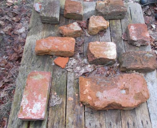 Szymbark-ruina gotyckiego zamku kapituły pomezańskiej z szansami na odbudowę. Różnego kształtu cegły.