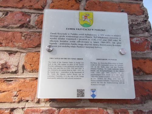 Zamek w Pasłęku.