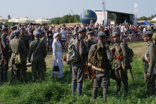 Inscenizacja bitwy o Dołhomościsk ( Ukraina) 16-17 marca 1919 r