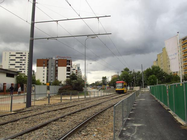 Warszawa - Bródno, ul. Rembielińska, objazd tramwajowy na czas budowy stacji metra