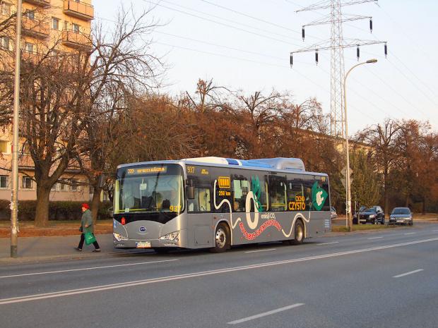 BYD K9A, #937, MZA Warszawa (testy)