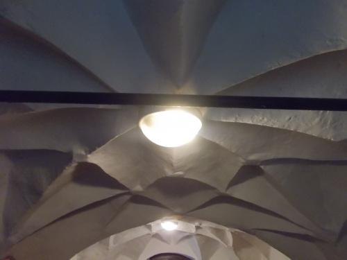 Sklepienie kryształowe w zakrystii kościoła