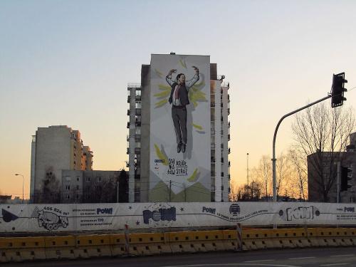 Mural Stanisława Anioła, w tej roli wystąpił wspaniały p. Roman Wilhelmi - pięknie odwzorowany :-)