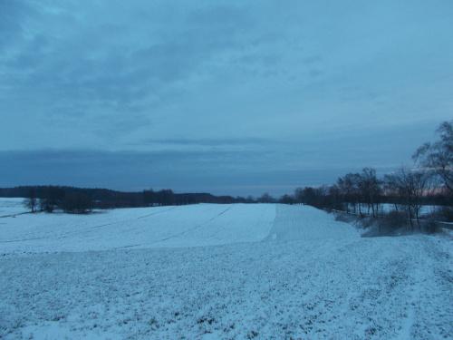 Zima w okolicach Majewa - tryb zmierzch/świt