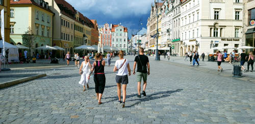 """Walking around the center"" - Wroclaw"