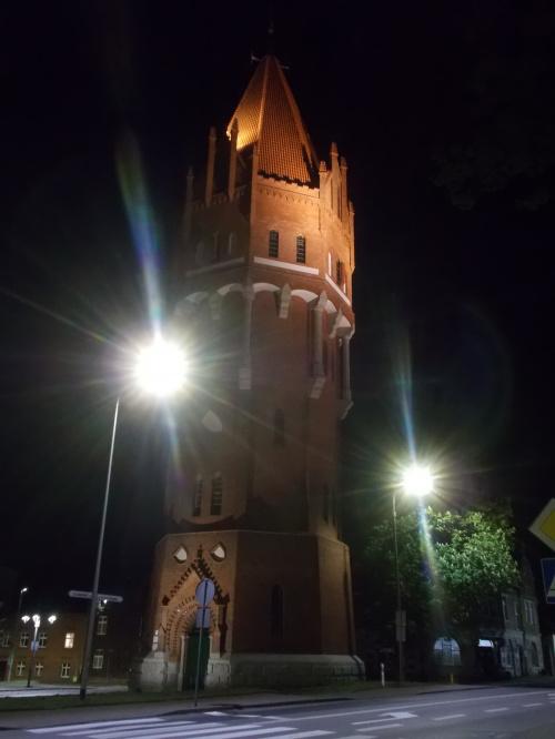 Malbork-odnowiona wieża ciśnień