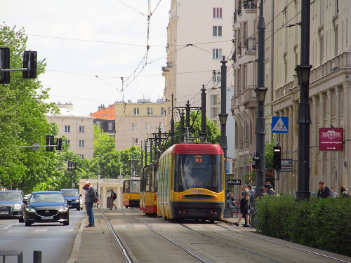 """Pesa 120Na """"Swing"""", #3287, Tramwaje Warszawskie"""