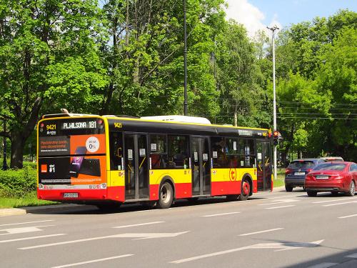 SU12III, #9421, Arriva Bus Transport Warszawa