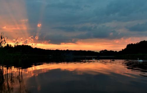 wieczorny spływ