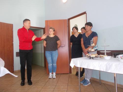 Nasi gospodarze ze Zbigniewem Lichuszewskim, wójtem gminy Rychliki na czele