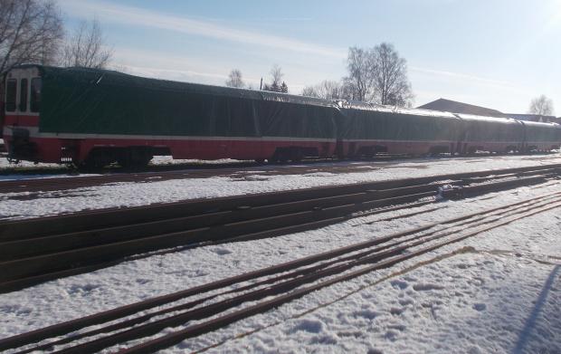 Nowy Dwór Gdański-Żuławska Kolej Dojazdowa podczas snu zimowego
