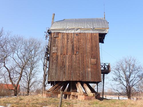 """Drewnica-wiatrak ,,koźlak"""" z 1718 roku! Czyżby szykował się remont zabytku?"""