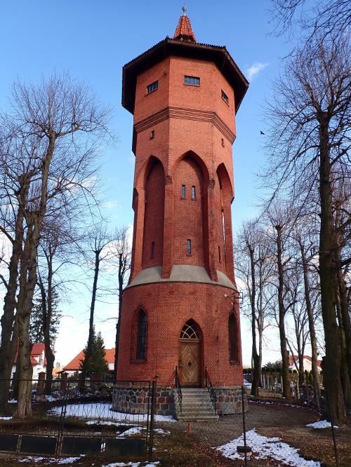 Pasłęk-zabytkowa wieża ciśnień