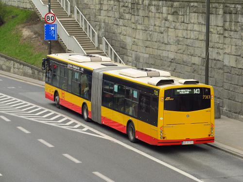 Solbus SM18LNG, #7313, MZA Warszawa