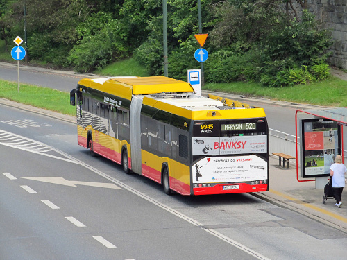 SU18 IV CNG , #9945, Arriva Bus Transport Warszawa