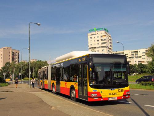 MAN NG313 CNG Lion's City G, #7258, MZA Warszawa